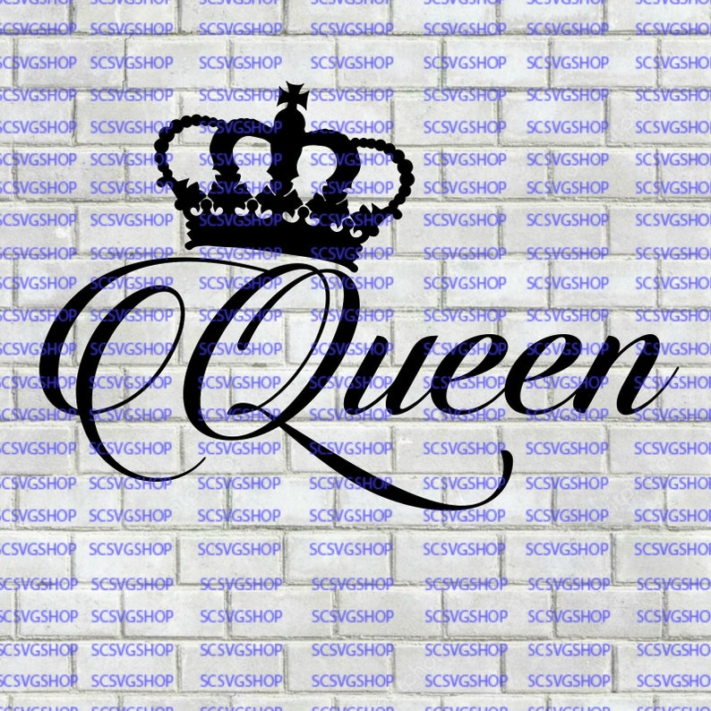 Queen SVG Cut File Royalty Birthday Gift Self Absorbed