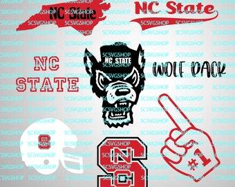 NC State SVG Cut File, Basketball, Wolf Pack, North Carolina, Fan, NC State, Bundle, Sports, Silhouette, svg, Cricut, Vector