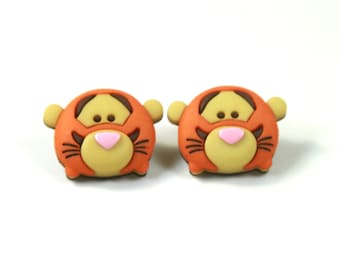 Tigger earrings, Tigger studs, Tiger earrings, Tiger studs