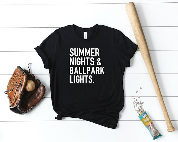 fff8c748710 Summer Nights And Ball Park Lights Softball Mom Wife Baseball