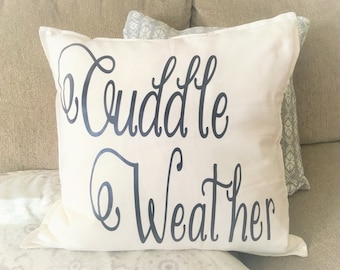 Cuddle Weather 100%  Cotton Off White Pillow with down feather insert