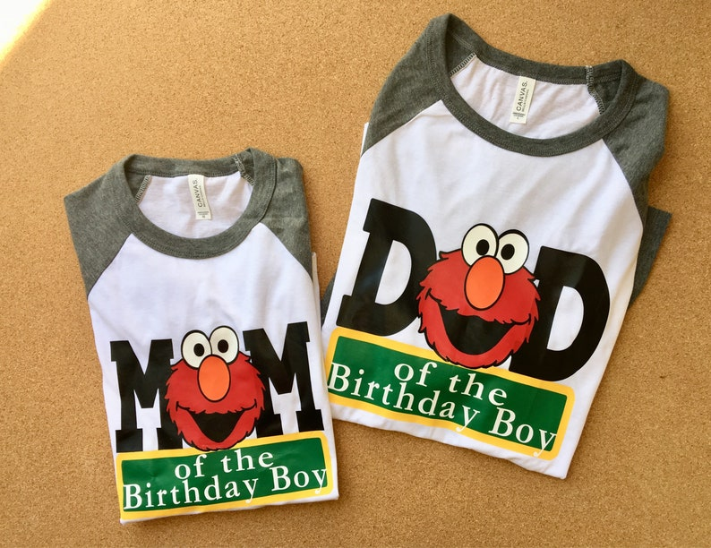 a16ad69a Mom and Dad Raglan Sesame Street Shirts | Etsy