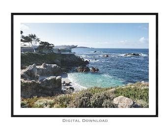 Carmel Beach Art California Art Asilomar Beach Print China Cove Point Lobos Lisa Elley California Print San Francisco Bay Monterey