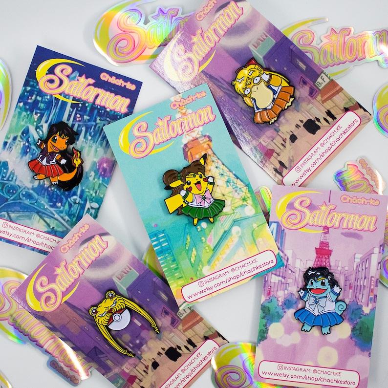 Sailor Moonball Soft Enamel Pin  Sailormon Series image 4
