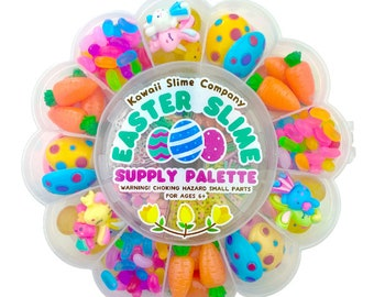 SALE! Easter Spring Supply Palette - Faux Festive Sprinkles - Decorative Charms - Reusable Flower Palette - 200+ charms - 35g of Sprinkles