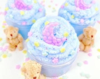 Fuwa Fuwa Time - Fluffy - Icee Cloud Slime - Scented Slime - Charms Include: Moon Charm, Baby Star Charms, & Cuddly Bear Charm - DIY - 6 oz