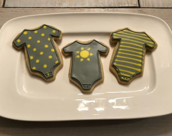 Ray of Sunshine Baby Shower Sugar Cookies