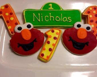 Elmo Birthday Sugar Cookies