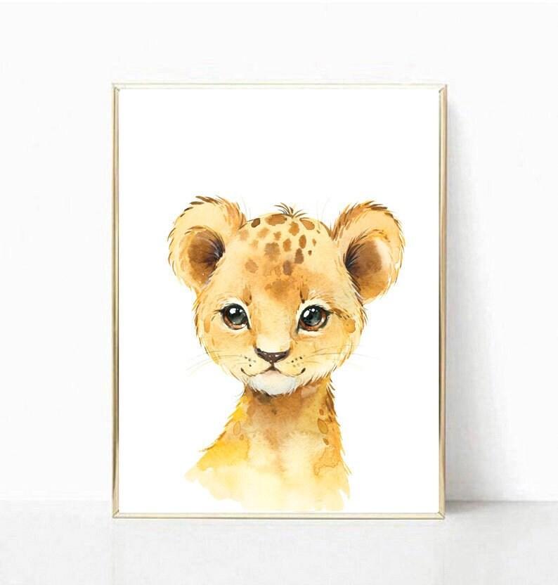Lion Print Safari Animals Print Baby Animal Art Nursery Decor Safari Nursery Animals Nursery Prints Baby Boy Baby Girl Room Wall Art Decor