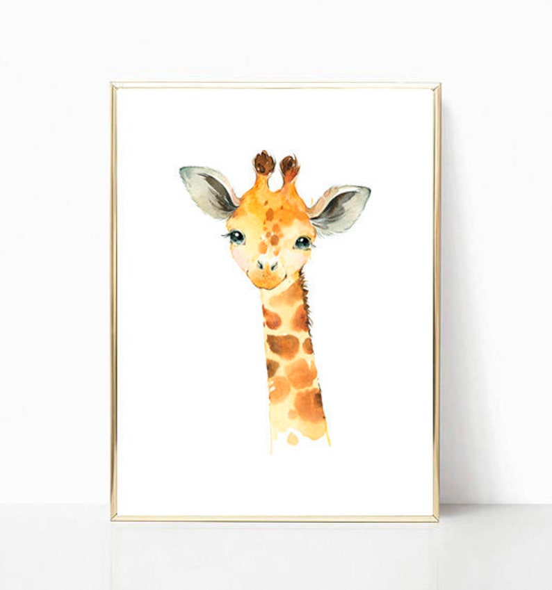 image regarding Printable Safari Animals called Kid Giraffe Print Nursery Printables Safari Nursery Artwork Boy or girl Animal Print Safari Pets Nursery Wall Artwork Nursery Decor Youngsters Printable Artwork