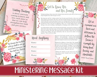 Ministering Message Kit Relief society Message Digital | Etsy