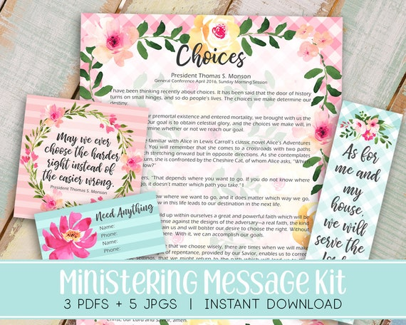 Items similar to Ministering Message kit (formally Visiting Teaching