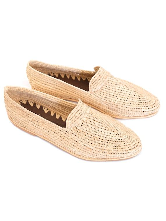 magasin en ligne moderne et élégant à la mode chaussures authentiques Marocain raphia mocassins, chaussure de raphia, Boho chic chaussures,  chaussures marocaines, sandales d'été, chaussures ethniques, mode ethnique,  Boho ...