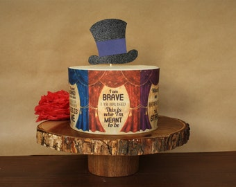 Greatest Showman Circus Theme Cake Decorations Song Lyrics Edible Image Wrap Top Hat Topper