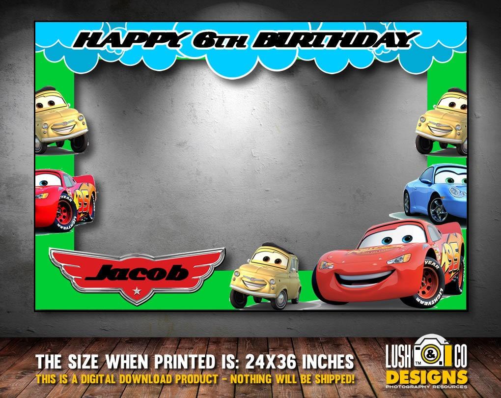 Foto Booth Rahmen Geburtstag Autos Autos-Geburtstags-Party