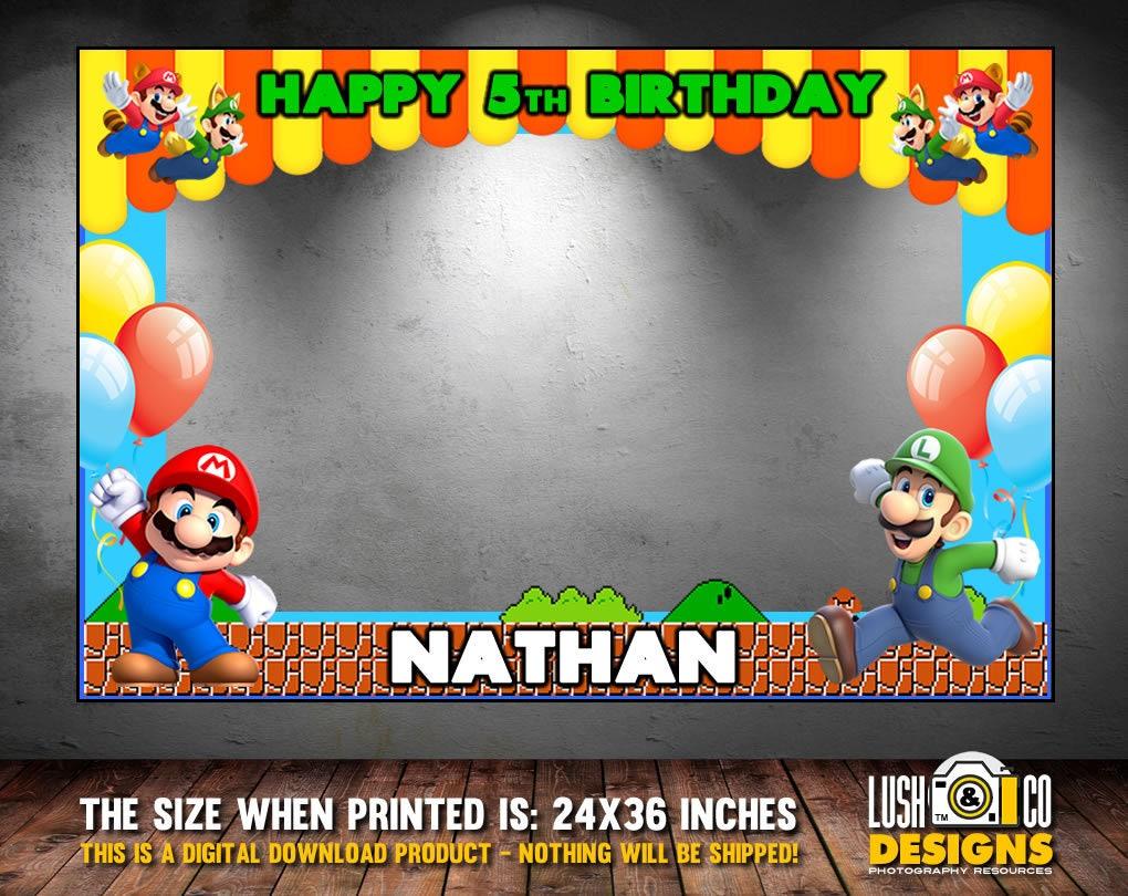 Super Mario Bros Photo Booth Rahmen Super Mario Party