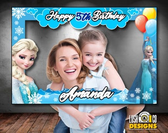Frozen Photo Booth Frame - Frozen photobooth frame, Frozen frame, Printable Frozen Elsa photo booth frame