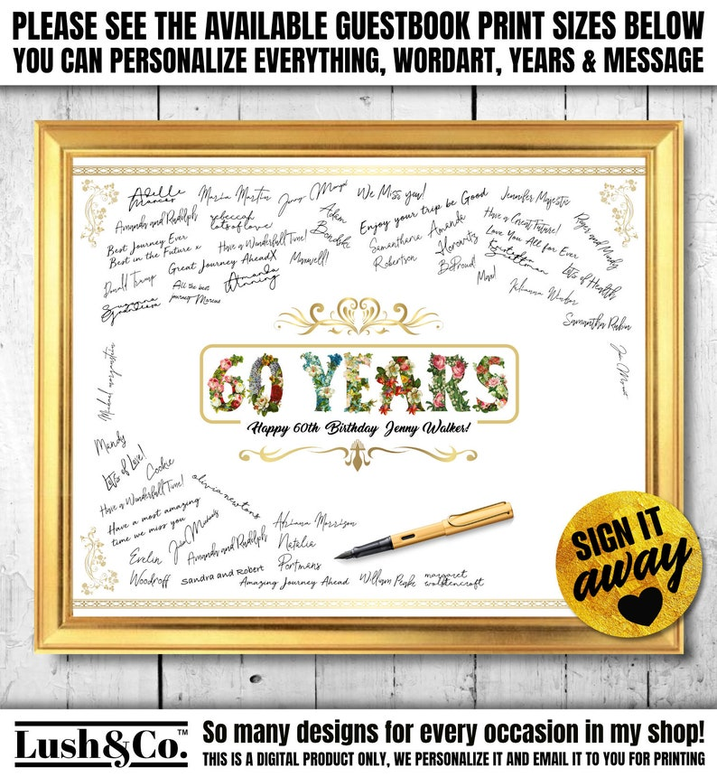 60th Birthday Ideas For Her Him Gift