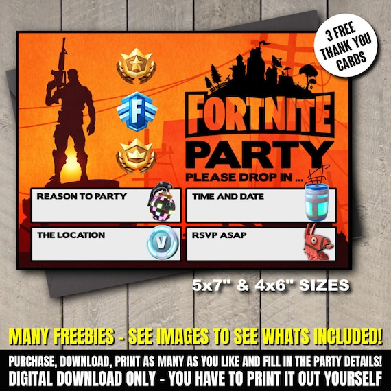 Fortnite Invitations Template Free