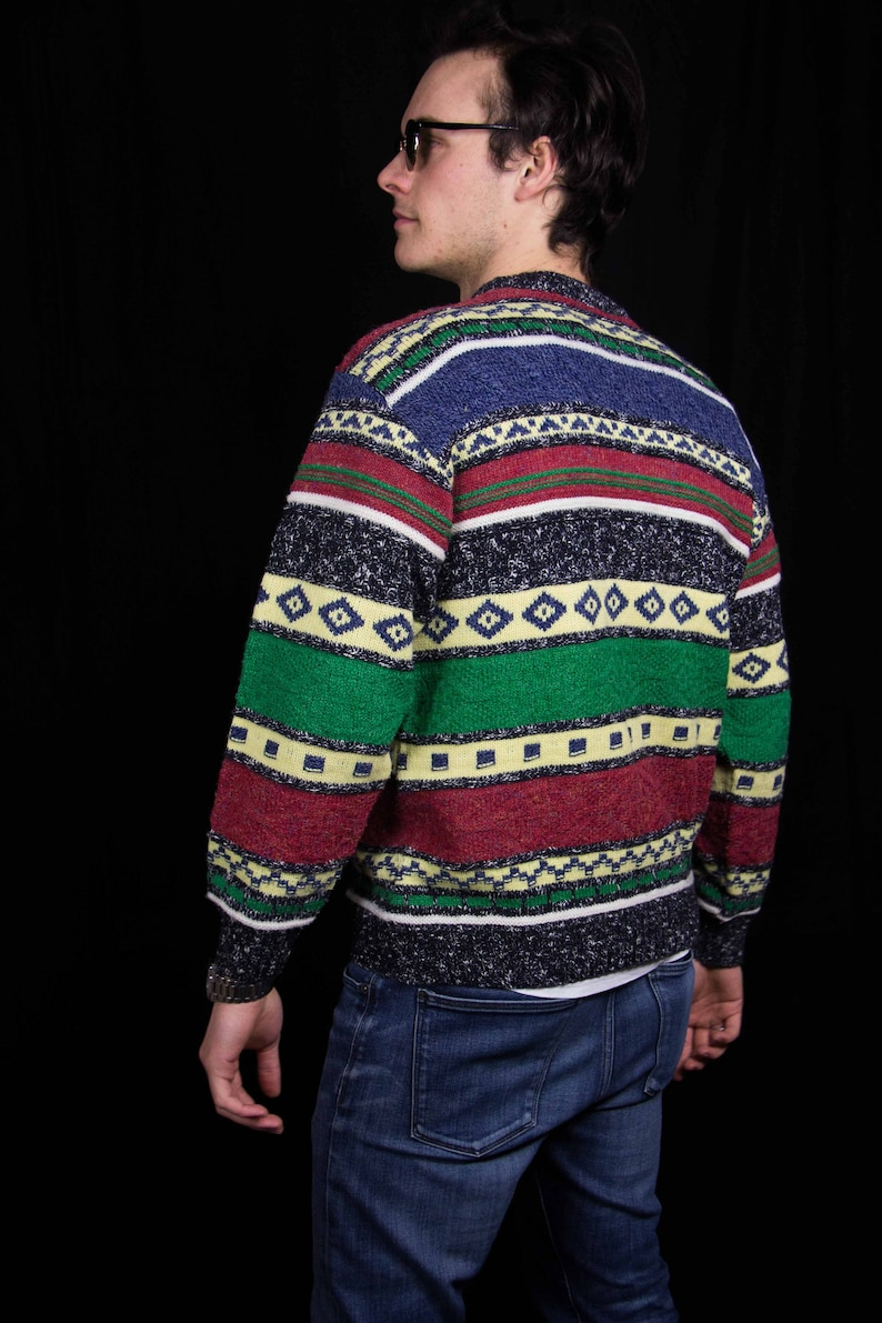 Men/'s Pullover Winter Hipster Style Amazing Vintage Funky Old School Cosby Sweater