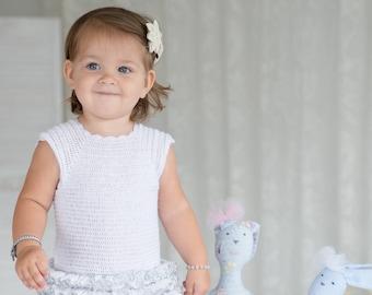 White christening dress for girl/ Baptism dress/ Crocheted white dress/ Dress for toddler girl/ Cute girl dress/ Festival dress/