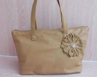 111330cf9bad Genuine Leather Flower Bag Charm Chuvash Handbag CharmPurse
