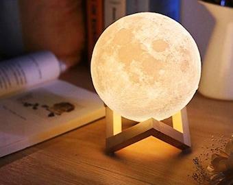 Moon Night Light | Moon Lamp Gift | 3D Moon Lamp | Lunar Lamp | Modern Desk Lamp | Astrology | Luna Lamp | Gift for her / him
