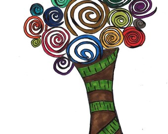 Digital Print Tree Design