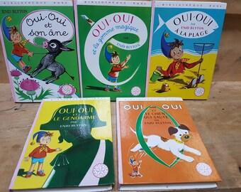 Vintage French Oui Oui 5 Livres Pour Enfants Bibliotheque