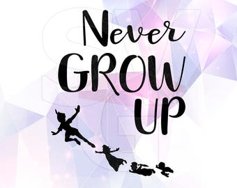 Peter Pan Quote Svg Dxf Eps Vector Cut Files Cricut Silhouette Etsy