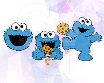 Svg Png Sesame Street Cookie Monster Layered Cut Files