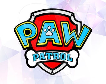 SVG Paw Patrol Logo Badges Shields Layered Cut Files Cricut Designs  Silhouette Cameo Party Decorations Vinyl Decal Tshirt Crafting Stencil