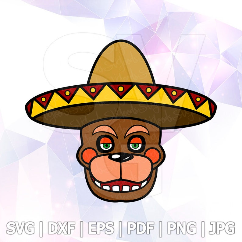 El Chip Five nights at Freddys Pizza Simulator FNAF 6 Sombrero Hat Beaver  Cut Files Cricut Designs Silhouette Characters Iron On Transfer