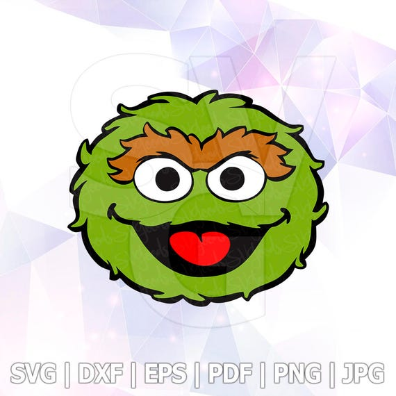 Oscar the grouch sesame street vector layered svg cut file etsy image 0 stopboris Image collections