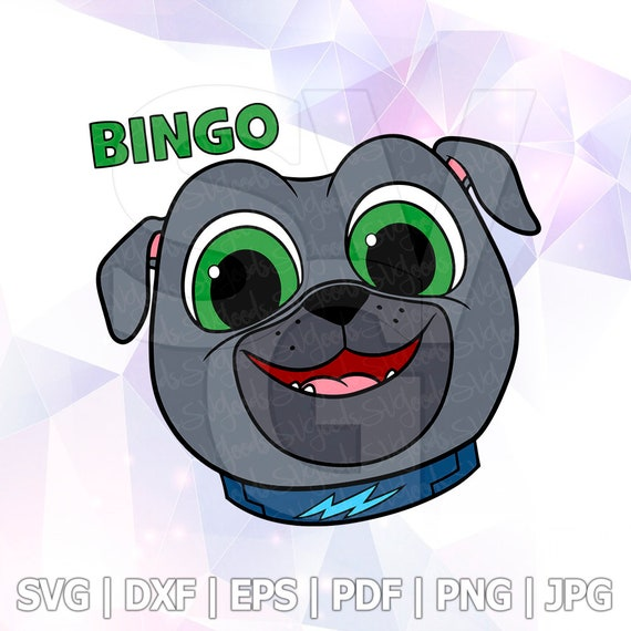 Puppy Dog Pals Set Svg Bingo Head Layered Dxf Eps Logo Vector Etsy