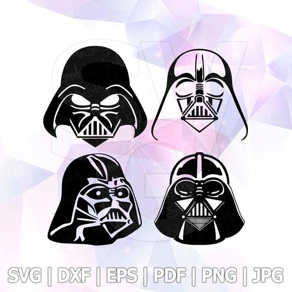 Dxf Png Eps Darth Vader Star Wars Svg Cut File Disney Cricut Etsy