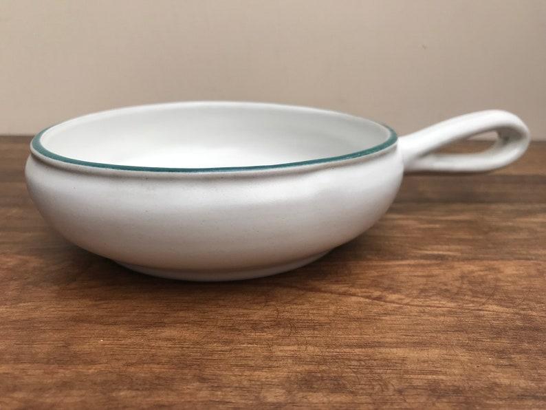 Denby Small Handled Dish Greenwheat Pattern Shallow Individual Dish Sauce Server 1950s Denby Pottery
