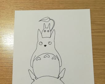 My Neighbour Totoro Ink Drawing
