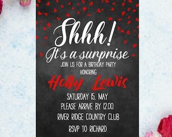 Surprise Invitation Etsy