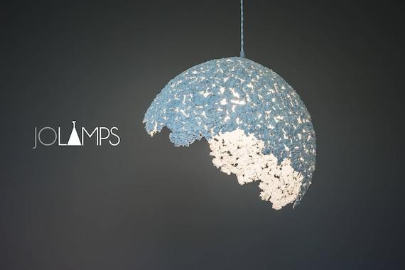 Paper Mache Lamp Pendant Light, Paper Mache Lamp
