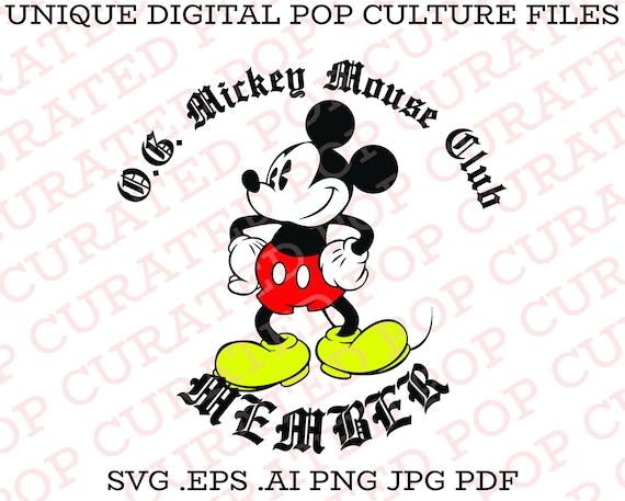 Disney Disneyland Gangster Mickey Mouse Club Walt Disney | Etsy
