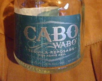 Empty Liquor Bottle - Cabo Wabo Tequila Reposado 100% Agave Azul 750 ml