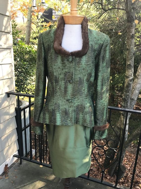 Vintage Miri New York Couture 2pc Dress & Jacket … - image 1