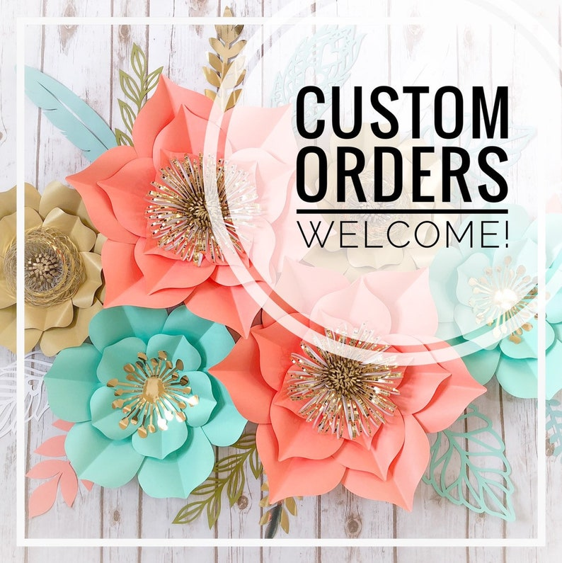Bridal Photoshoot Pink and Gold Floral Arrangement Wedding Flower Wall Home Decor Large Paper Flower Set of 8