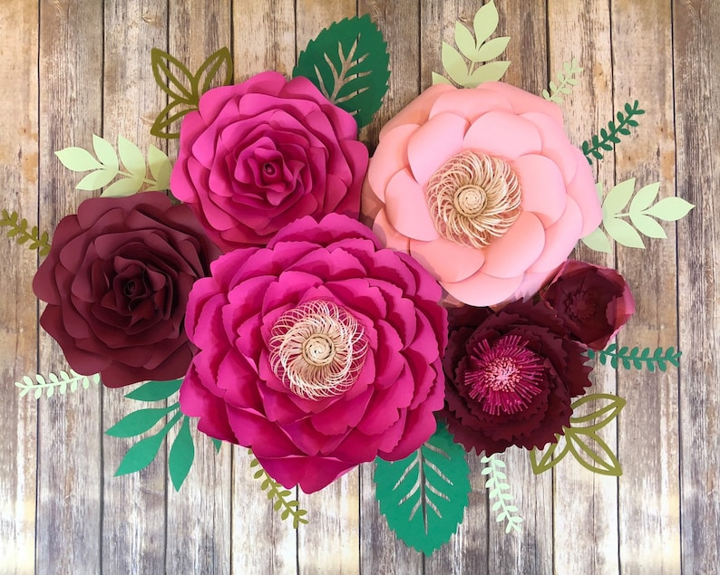 Photo Booth-Wedding Backdrop-Nursery-Table Runner-Paper Flower Wall-Paper Flower wall-paper flower Large Paper Flower-Backdrop-Prop