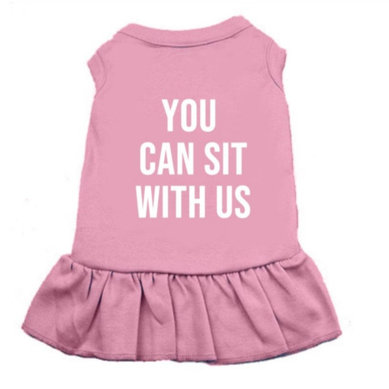 You Can Sit With Us Cotton Dress