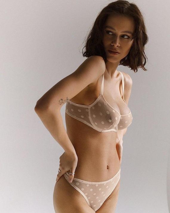 Sheer nude lingerie