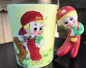 Vintage Hand Painted Coffee Mug