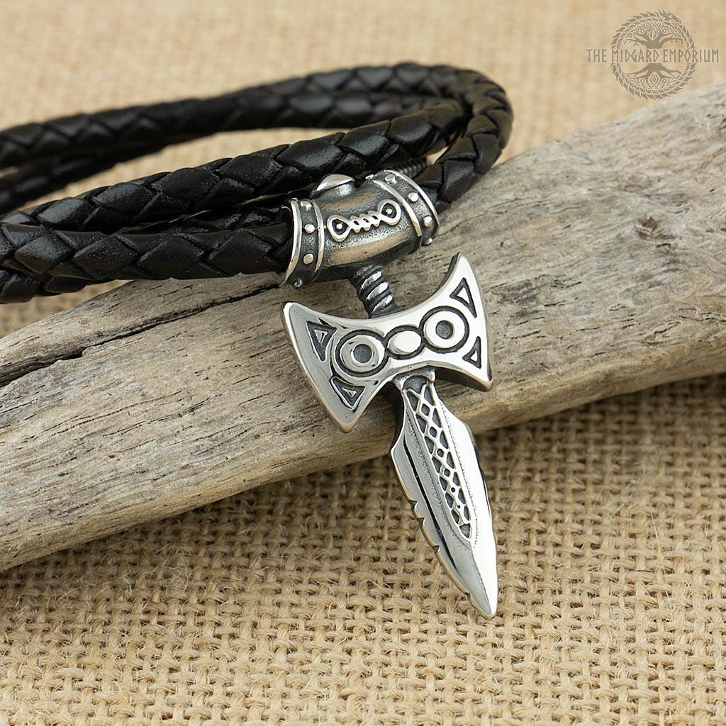 Amulet Of Talos amulet of talos viking sword stainless steel pendant with leather necklace