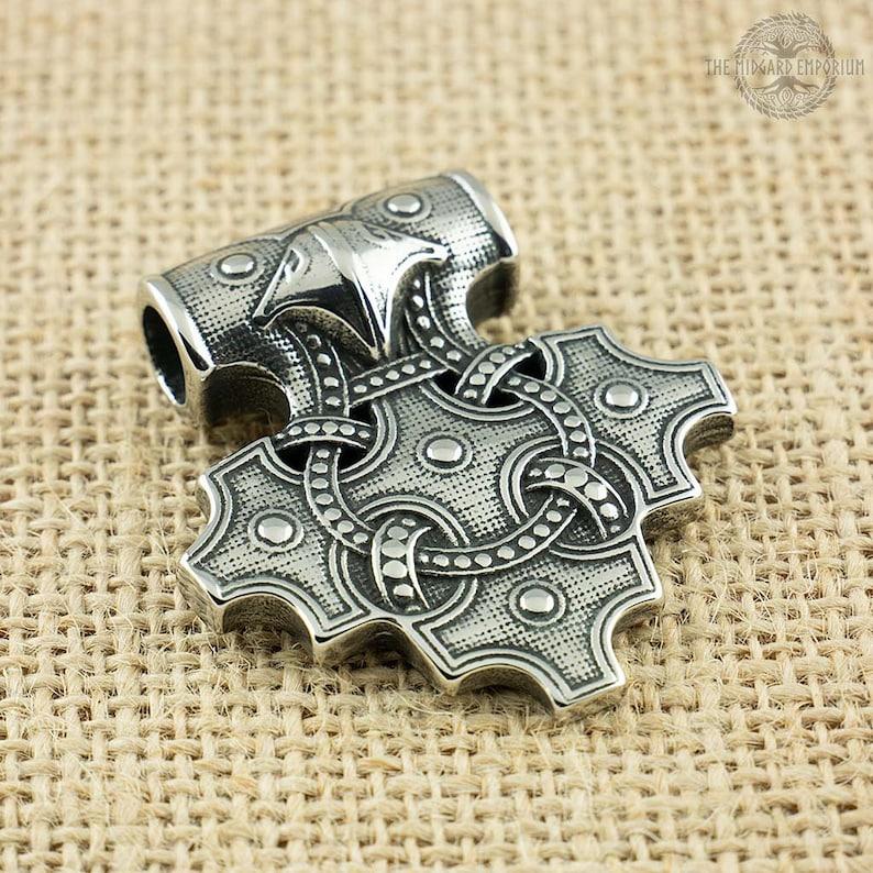 Viking Raven Hiddensee Stainless Steel Pendant Only